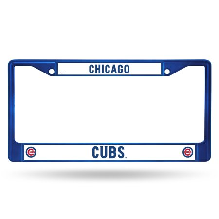 Rico MLB Chicago Cubs Blue Chrome License Plate Frame