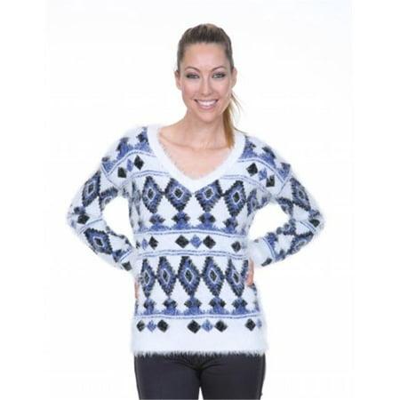 White Mark Universal 697-Navy-M Traditional Sweater - Navy - Medium - image 1 of 1
