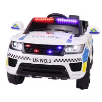 Deals on Tobbi 12V Kids Ride on Police Car w/Remote