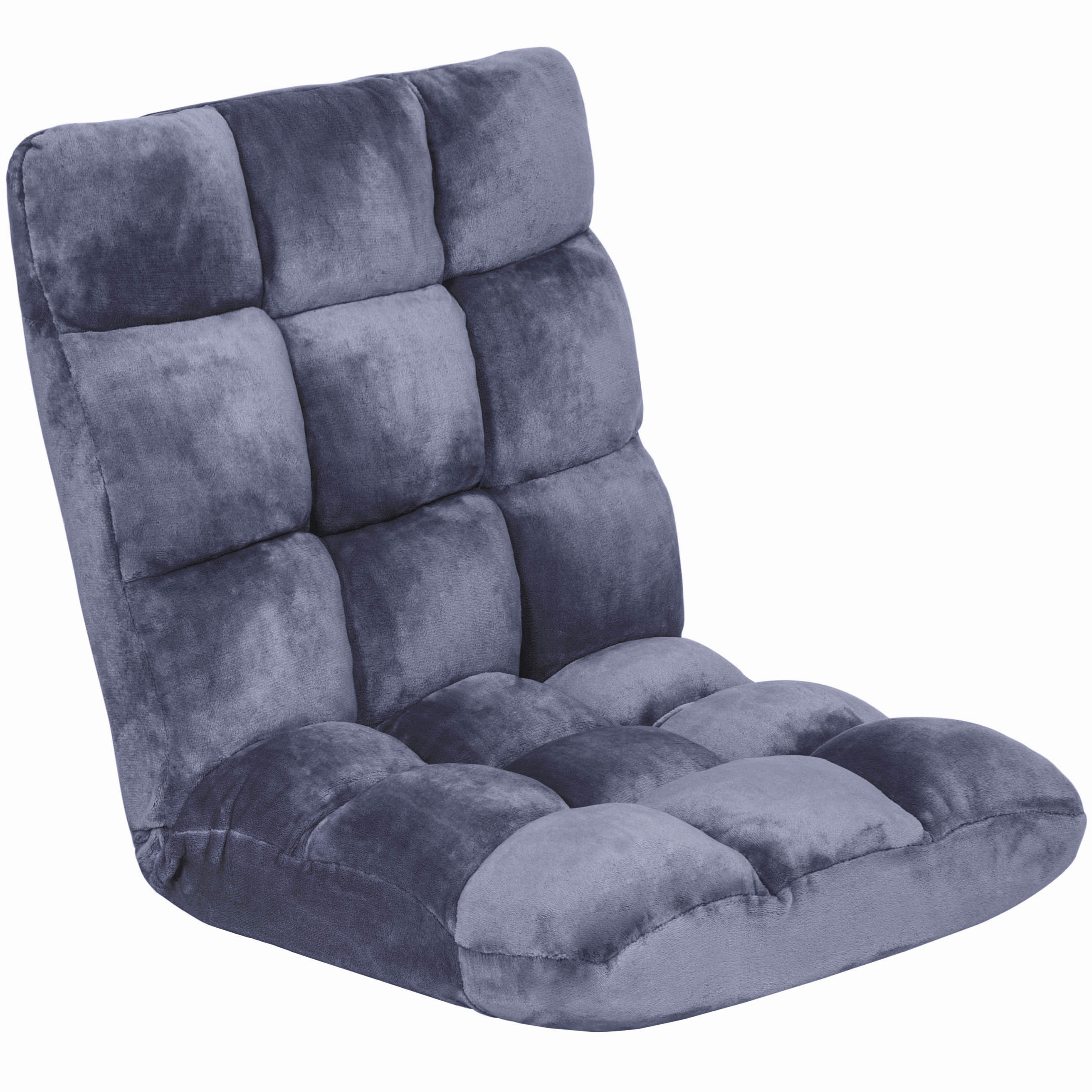 Best Choice Products Adjustable Memory Foam Cushioned Gaming Floor Chair (Eggplant)