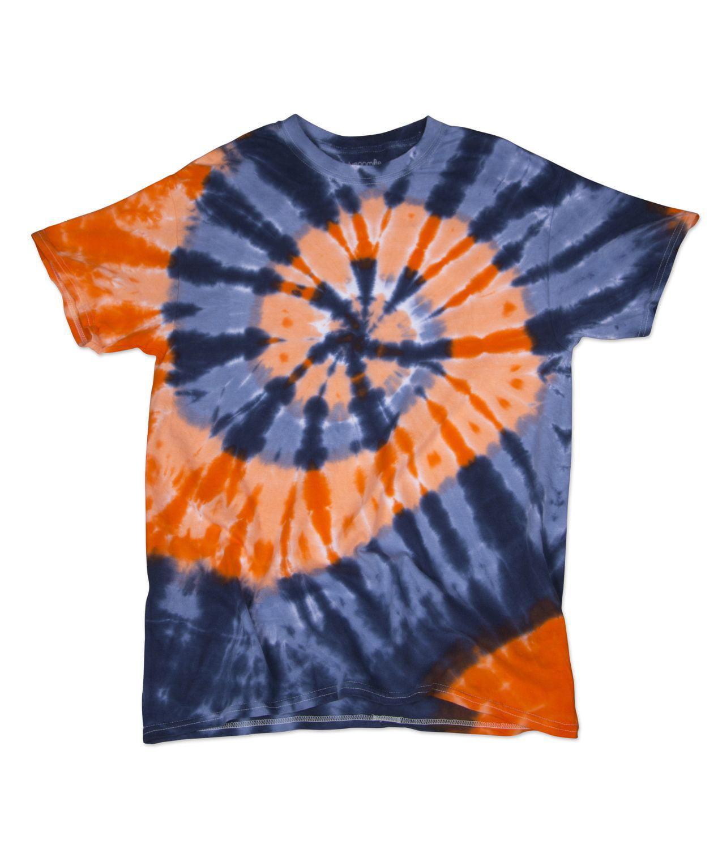 Dyenomite Typhoon Design Unisex Adult Tie Dye T-Shirt Tee
