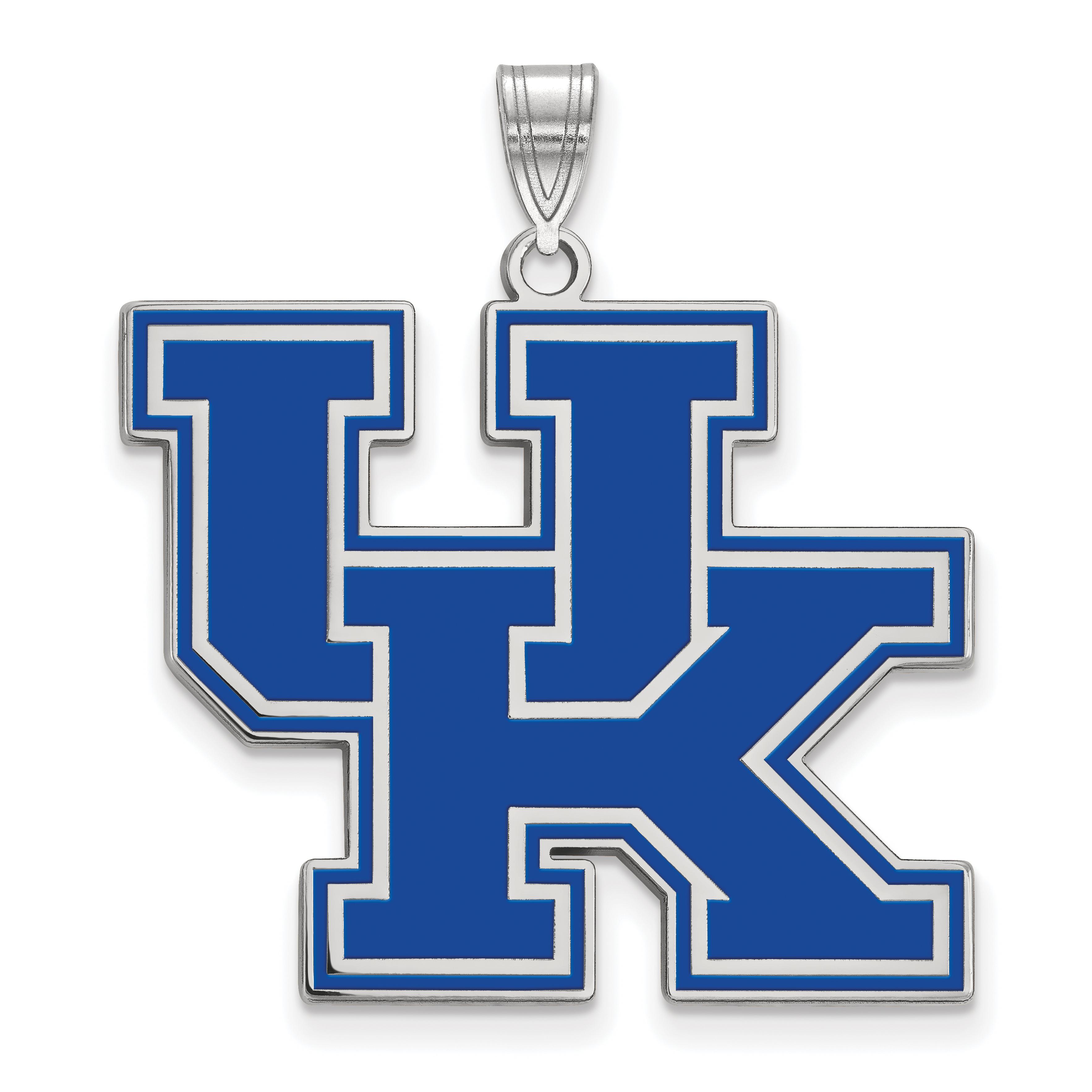 Roy Rose Jewelry Sterling Silver LogoArt University of Kentucky XL Enameled Pendant