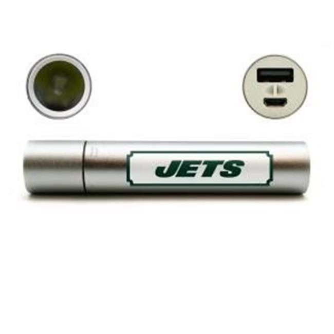 Duck House Sports LCF119 3 oz New York Jets Portable Battery Charger with LED Flash Light & Hand Warmer 3 in 1, 2600 mAh