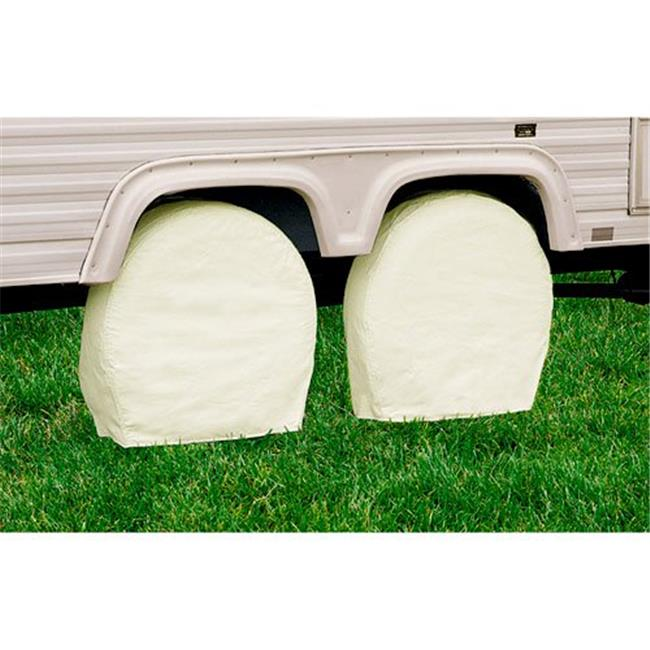 29-31.75 Inch Snow White Model 3 RV Wheel Covers