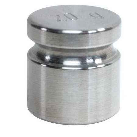 RICE LAKE Calibration Weight,SS,20g,Cylinder, 12523TR
