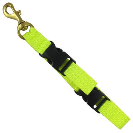 Scuba Diving BC Fin and Mask Keeper with Quick Release Loop Lanyard, Black/Yellow