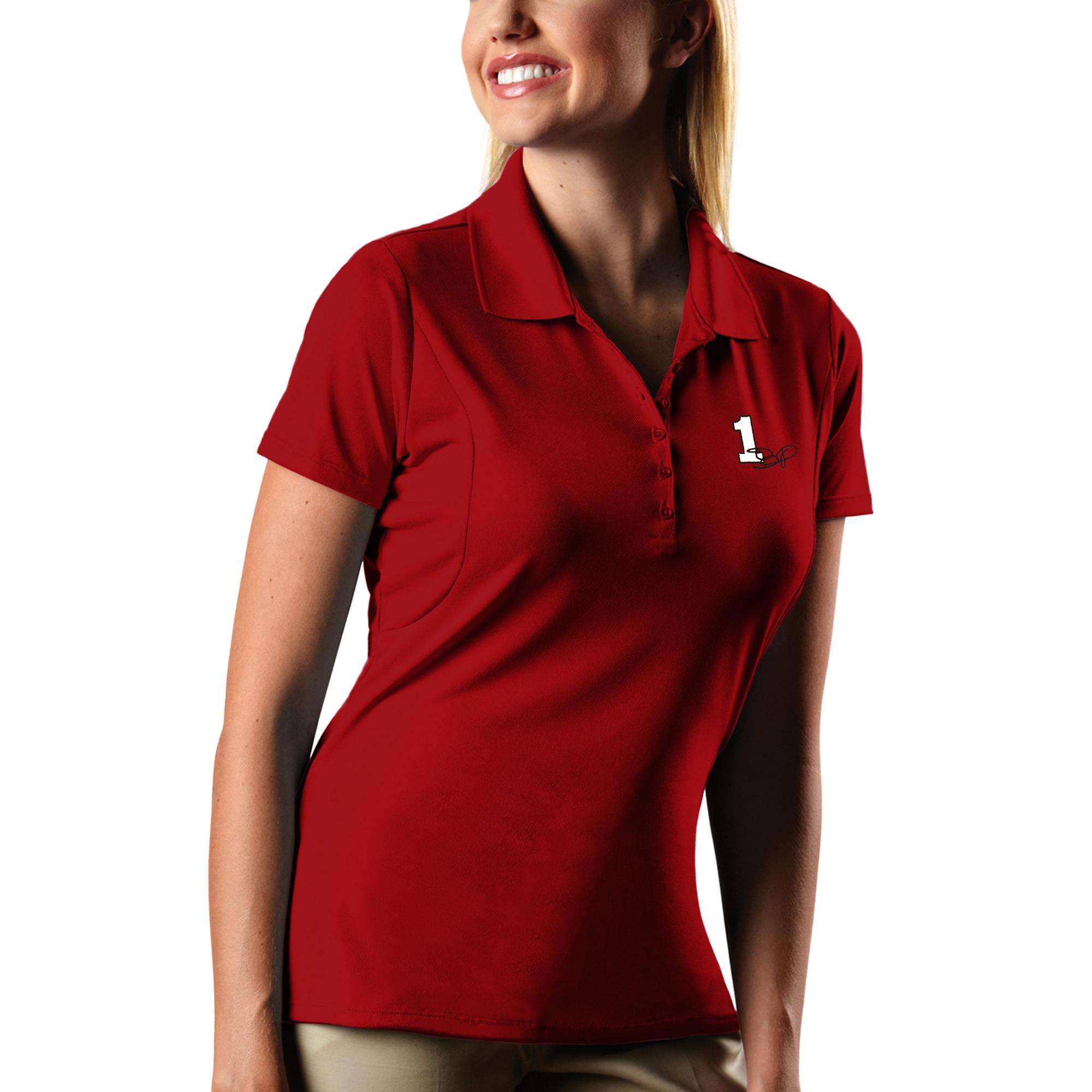 Jamie McMurray Women's Antigua Pique Desert Dry X-tra Lite Polo - Red