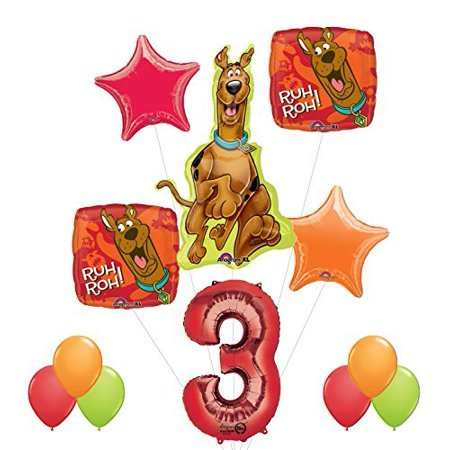 Scooby Doo 3rd Birthday Party Supplies and Balloon - Scooby Doo Birthday Supplies