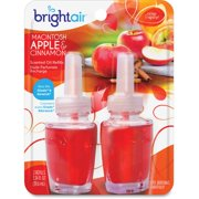 Bright Air Electric Scented Oil Dispenser Refill - Oil - Macintosh Apple, Cinnamon - 12 / Carton - Long Lasting (900255ct)