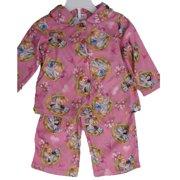 Baby Girls Pink Princesses Horse Print 2 Pc Pajama Set 12-24M