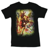 Iron Man (Marvel Comics) Mens T-Shirt - The History of Tony Stark & the Avengers