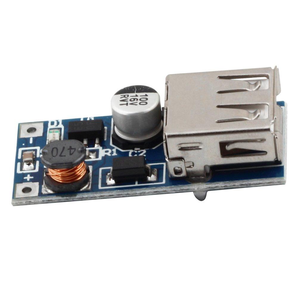 2PCS 0.9V-5V 600MA USB DC-DC Step Up Booster Mobile Power Supply Module