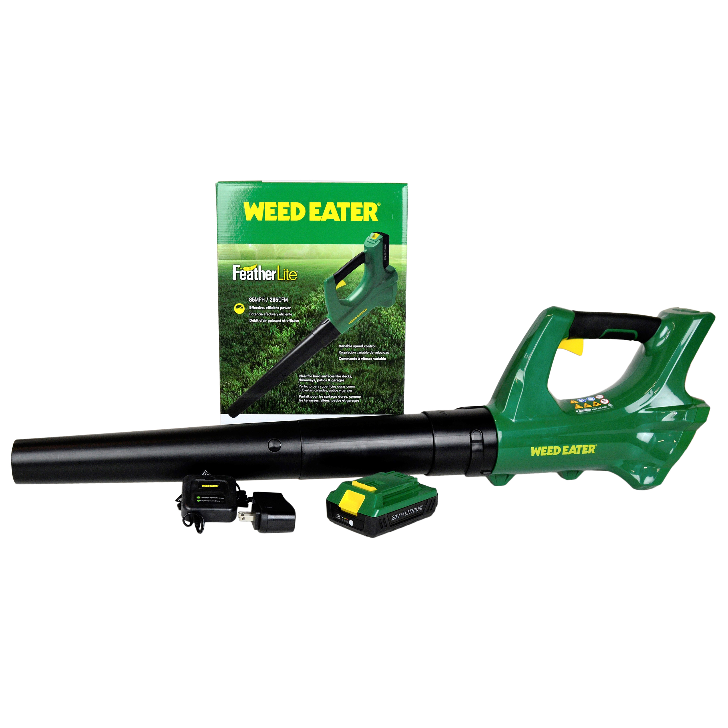 Weed Eater WE20VB 20V Volt Lithium-Ion Blower Kit with Battery and Charger