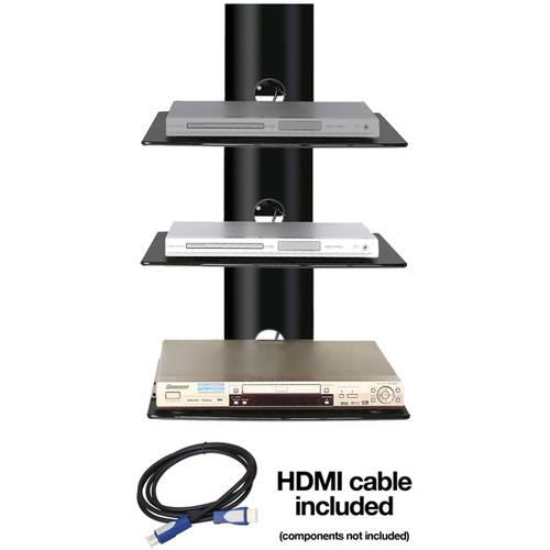 Ready-Set-Mount Triple Wall-Mount Shelf System, CC-S3 Black