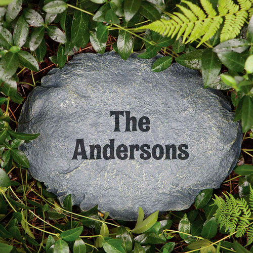 Personalized You Name It Garden Stone