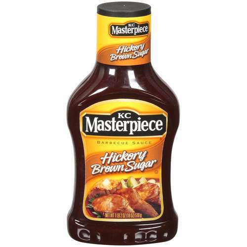 KC Masterpiece Hickory Brown Sugar Barbecue Sauce, 18 oz