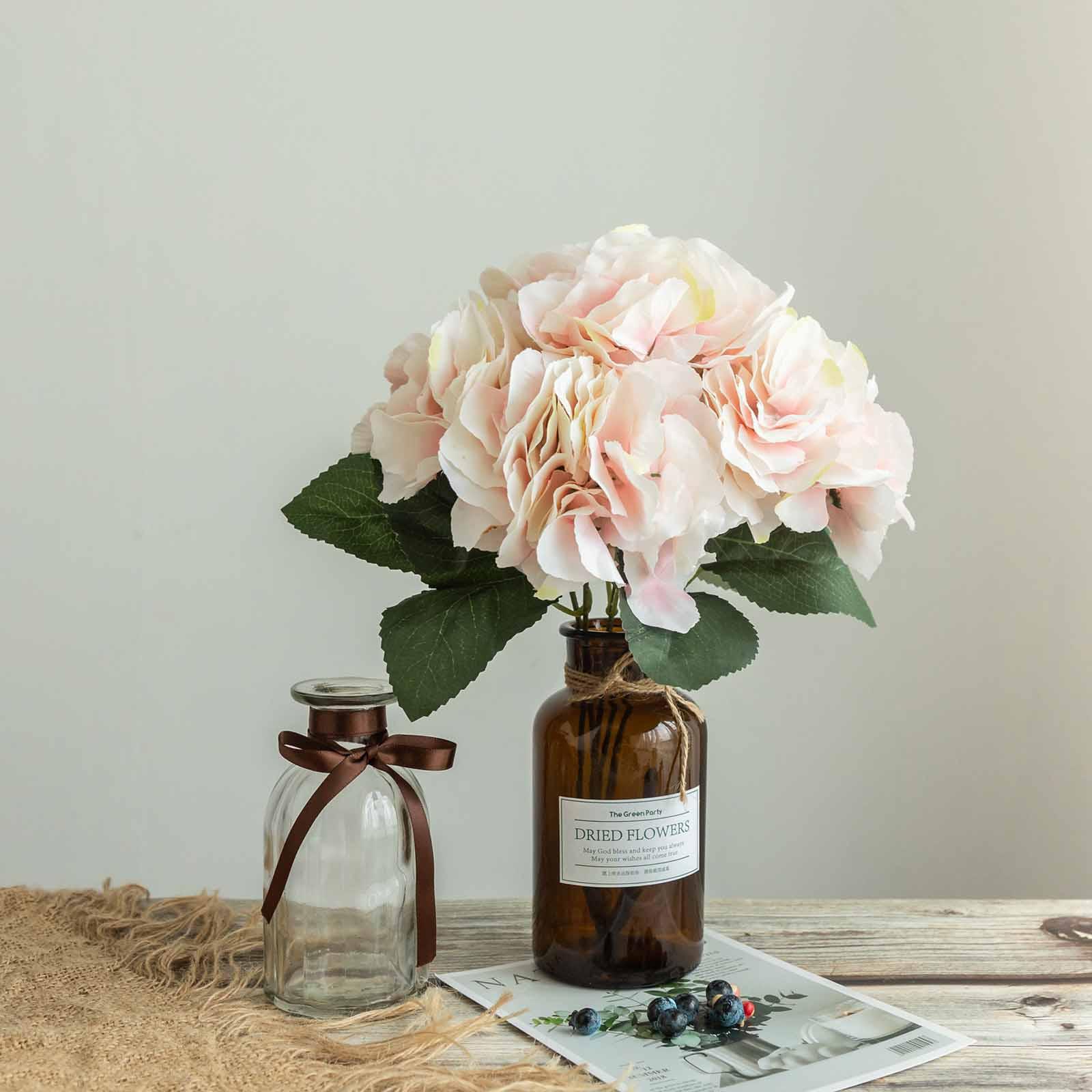 BalsaCircle 25 Silk Hydrangea - 5 Bushes - Artificial Flowers Party Centerpieces Wedding Arrangements Bouquets