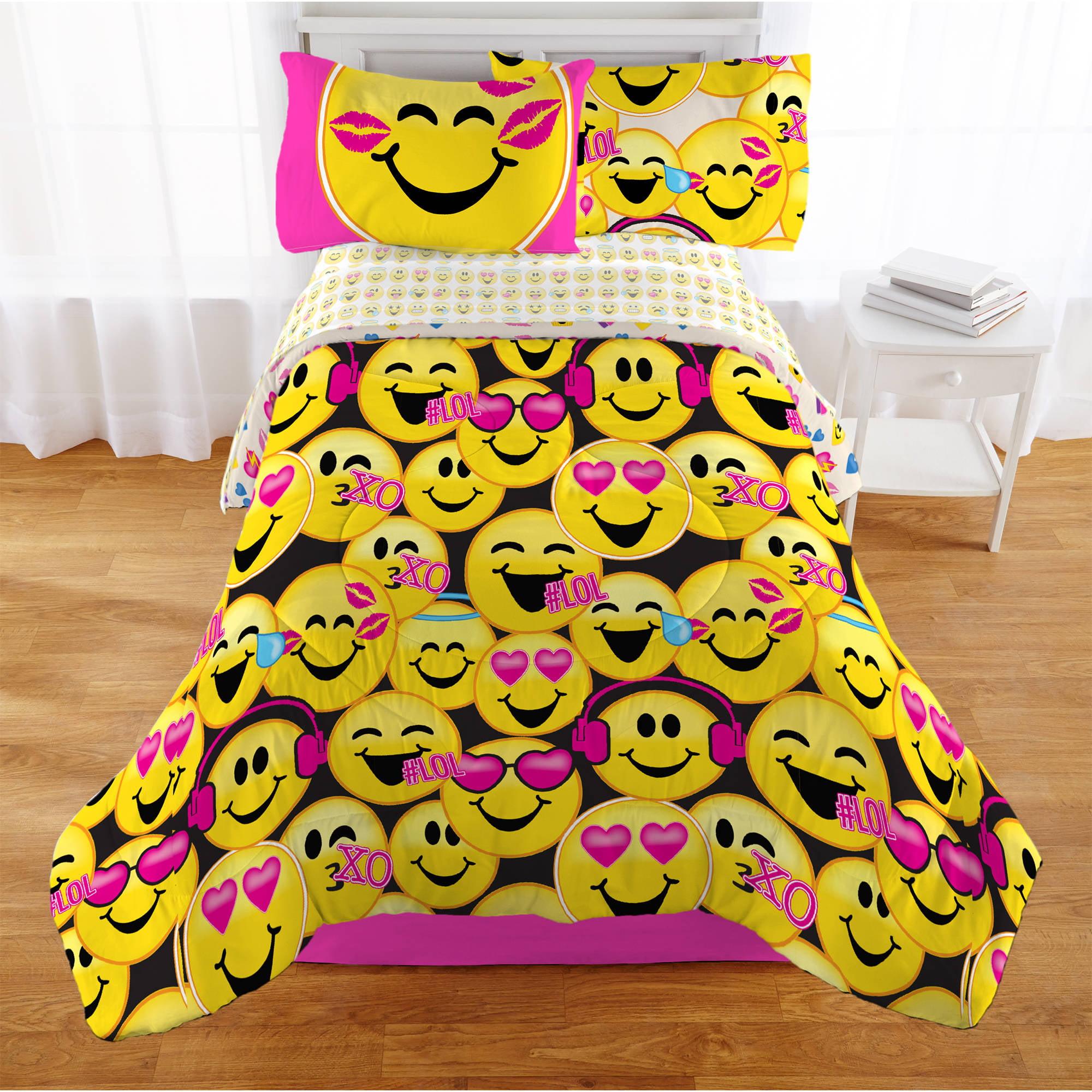 Emojination Happy Happy Reversible Comforter, Twin ...