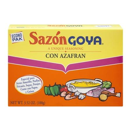 Goya Seasoning ((3 Pack) Goya Sazon Con Azafran Seasoning, 3.52 Oz)