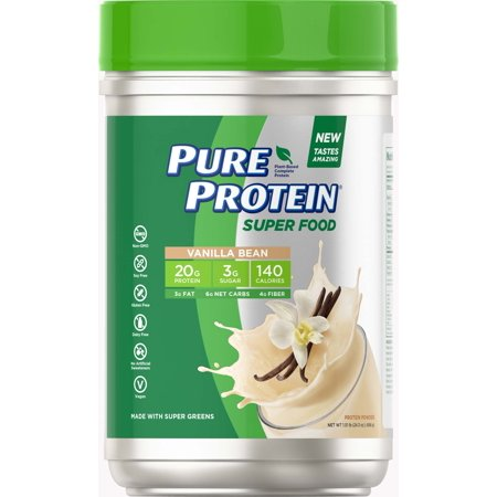 Pure Protein Plant-Based Protein Powder, Vanilla Bean, 20g Protein, 1.51 (Best Vegan Plant Based Protein Powder)