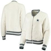 Dallas Cowboys New Era Women's Athletic Sherpa Full-Zip Jacket - Cream