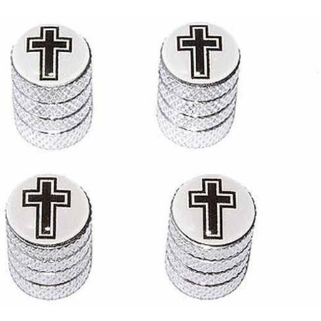 Valet Cross (Cross Christian Religion Religious Tire Rim Wheel Aluminum Valve Stem Caps, Multiple Colors )