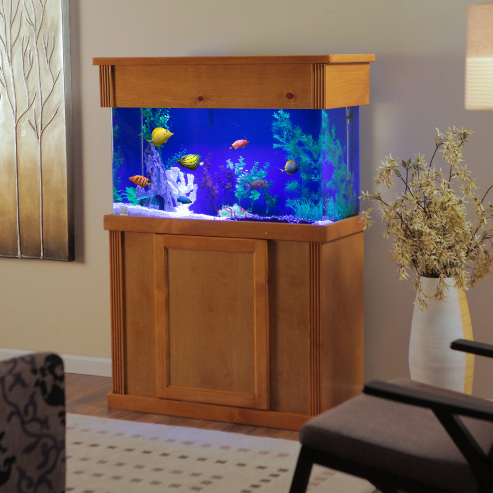 Laguna Series Rectangular Wood Aquarium Stand with Optional Canopy - Walmart.com & Laguna Series Rectangular Wood Aquarium Stand with Optional Canopy ...