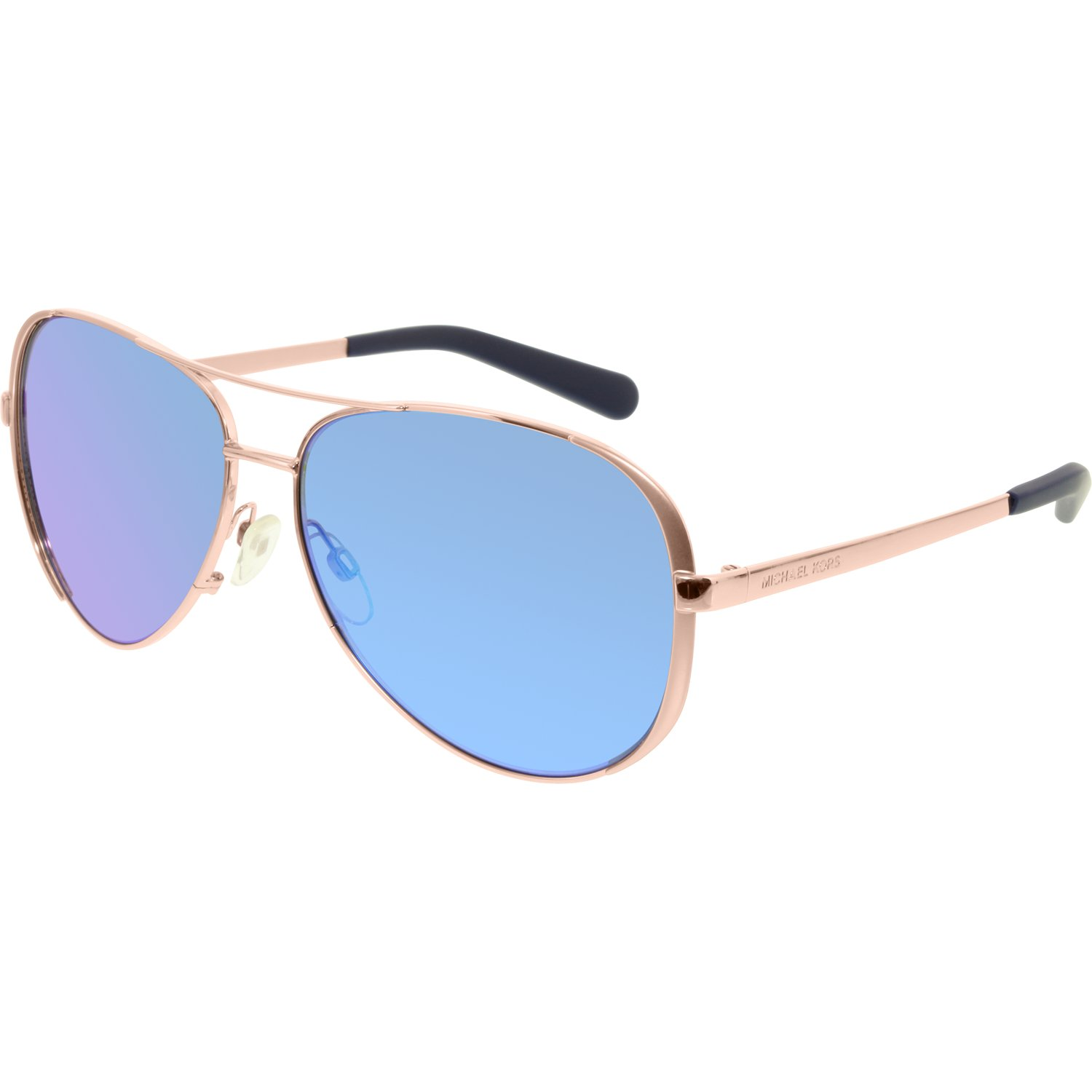 0fd75de8e7 Michael Kors Women s Gradient Chelsea MK5004-100325-59 Rose Gold Aviator  Sunglasses