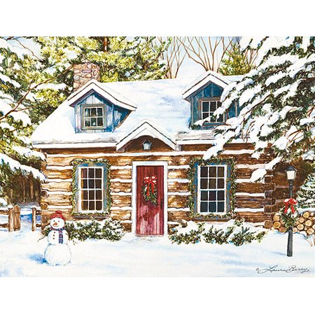 Log Cabin Christmas.Lang Log Cabin Holiday Boxed Christmas Cards