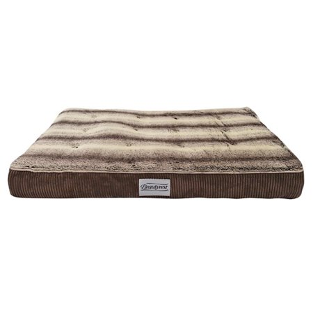 Beautyrest Memory Snooze Large Corduroy Brown Pet Bed