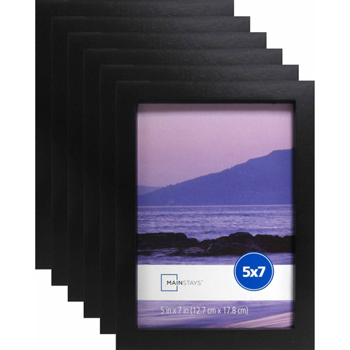 Mainstays 5 X 7 Black Linear Frame Set Of 6 Walmartcom