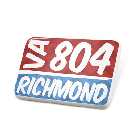 Porcelein Pin 804 Richmond, VA red/blue Lapel Badge – (Fashion Park Richmond Va)