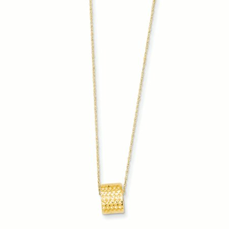 14K Yellow Gold Rope Link 6 MM with Barrel Bead and 2