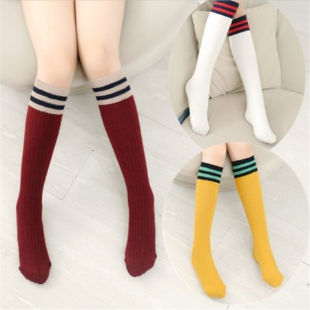 Unisex Kid Baby Cotton Sport Length Socks Long Tube Socks Stocking 1-9Y