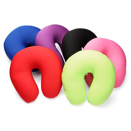 U-Shape Neck Pillow Microbead Cushie Ultralight Massage Head Neck Cervical Support Cushion Multi Colors