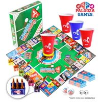 DRINK-A-PALOOZA Board Game: Fun Drinking Games for Adults & Game Night Party Games | Adult Games Combo of Beer Pong + Flip Cup + Kings Cup Card Games + More!