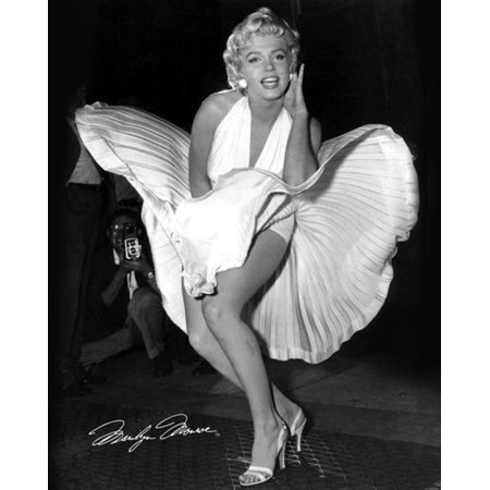 Marilyn Monroe Seven Year Itch Hollywood Glamour Celebrity Actress Icon Photograph Poster - 16x20 inch