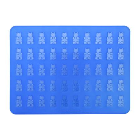 Yosoo 50 Cavities Chocolate Candy &Ice Cube Bear Shape Silicone Mold Make with Dropper - image 1 de 2