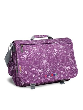 J World Thomas Laptop Messenger, Love Purple