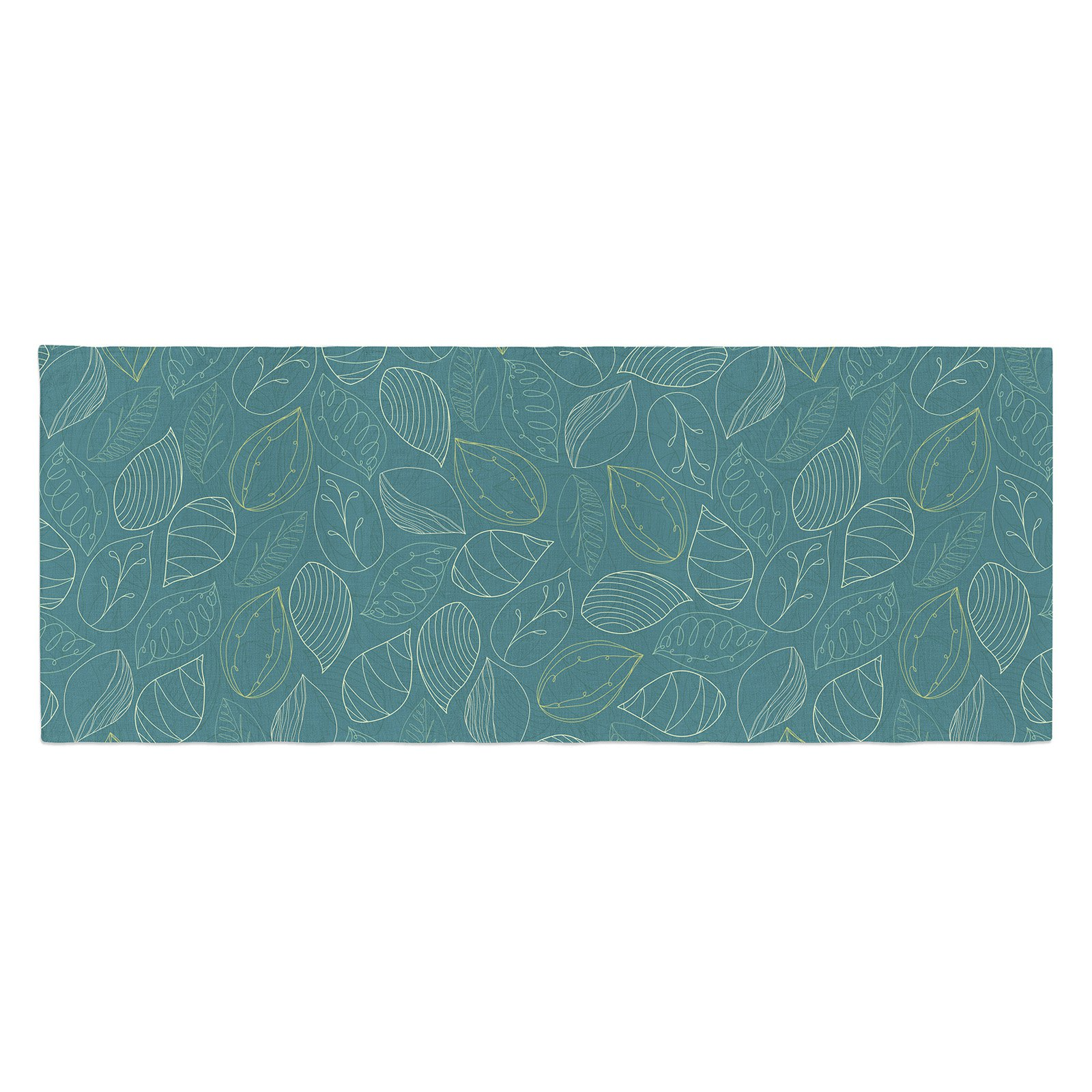 Emma Frances Autumn Leaves Bed Runner by Kess InHouse