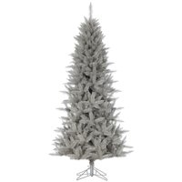 Vickerman A193080 9 ft. x 52 in. Platinum Fir Artificial Christmas Pencil Tree with 1615 PVC Tips