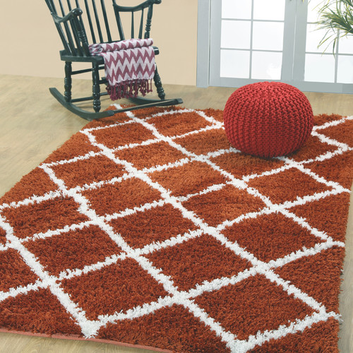 Affinity Linens Hand-Woven Rust Area Rug