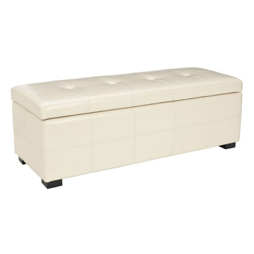 Safavieh Furniture HUD8229 Maiden Large Tufted Storage Bench