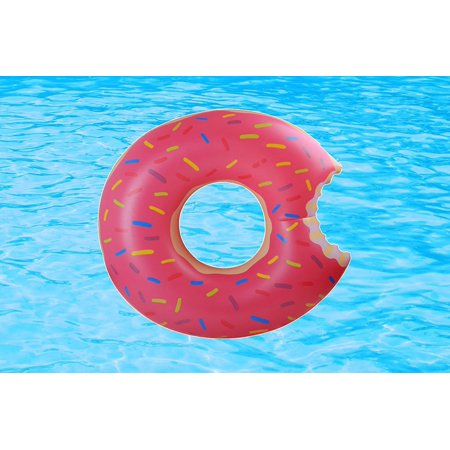 Giant Jumbo Inflatable Donut Pool Float Frosted with Sprinkles