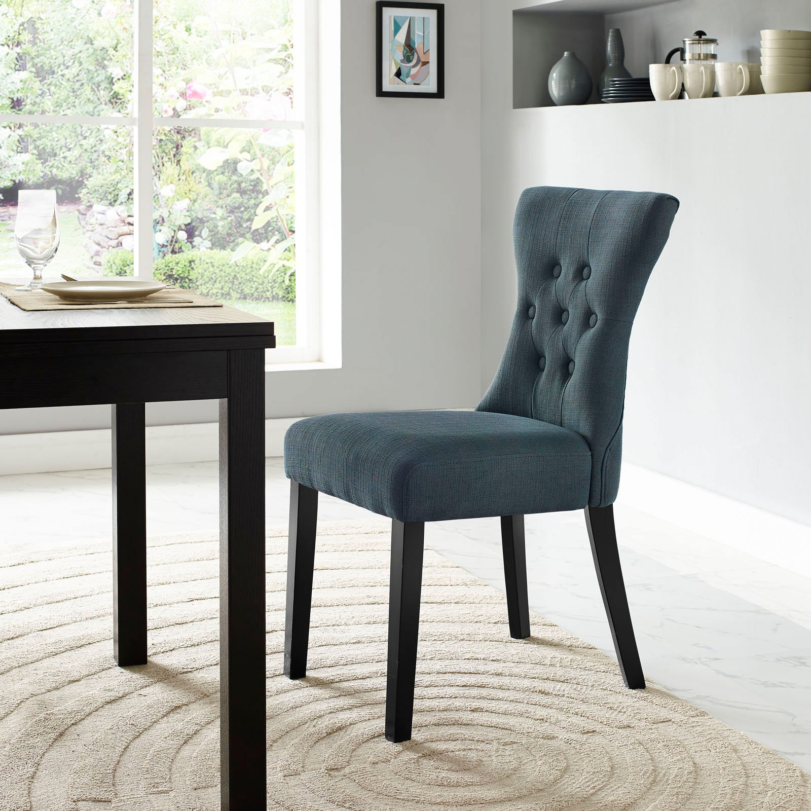 Modway Silhouette Upholstered Dining Side Chair, Multiple Colors