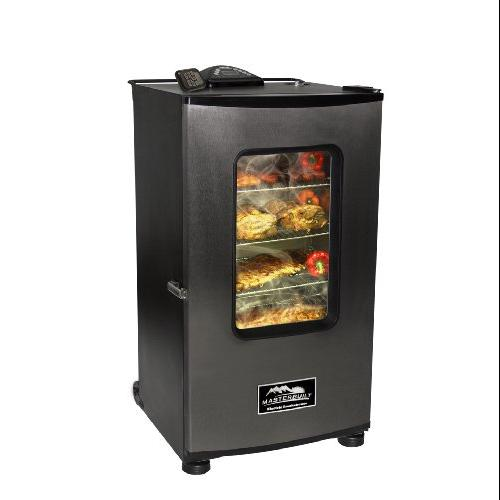 Masterbuilt MAST20070411B Masterbuilt 30-Inch Top Controller Electric Smoker with Window and RF Controller