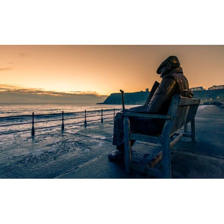 LAMINATED POSTER Giant Bench Old Man Sculpture Seascape Scarborough Poster Print 24 x 36