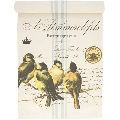 TheWatsonShop Birds on Branch Cotton Table Runner