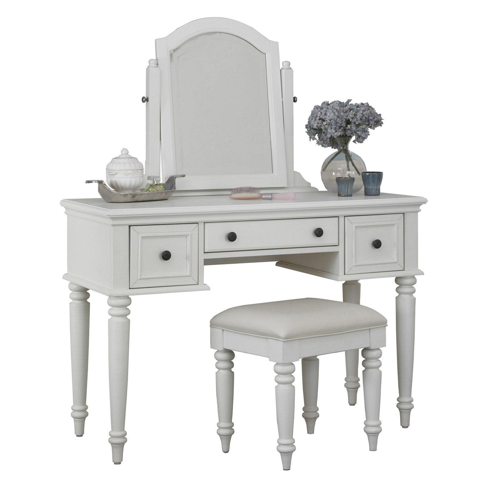 Home Styles Bermuda Bedroom Vanity Table - White - Walmart