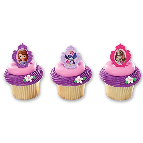 DecoPac Sofia The First Sofia's Friends Cupcake Rings (12 Count)